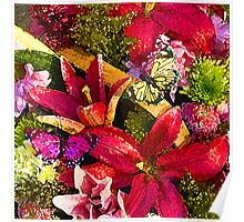 Butterfly Birthday Bouquet Poster