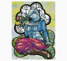 collared dove woman with full color background by HiddenStash