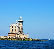 Stratford Shoal Light by John Schneider
