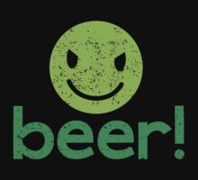 Beer! with cute evil smiley face by jazzydevil