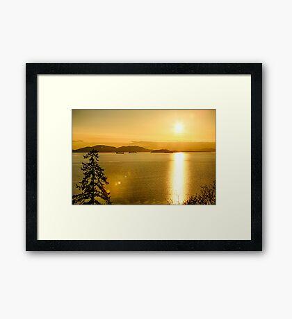 Samish Bay Sunset Framed Print