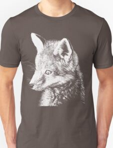 White Fox Scratchboard T-Shirt