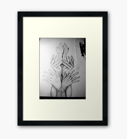 Hand Tower 2 . . . in process Framed Print
