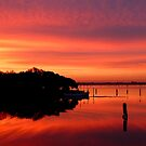 sunrise in the Venice lagoon by supergold