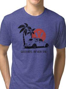 Legends Never Die - Retro BUG T-Shirt Tri-blend T-Shirt