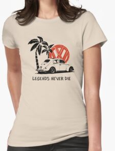 Legends Never Die - Retro BUG T-Shirt Womens Fitted T-Shirt