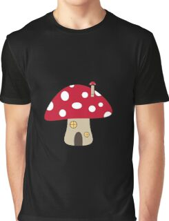 Mushroom House Graphic T-Shirt