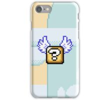Flying question block Super Mario World iPhone Case/Skin