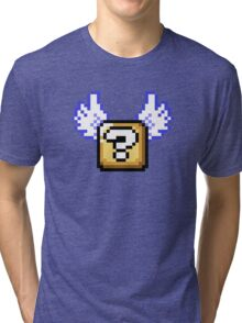 Flying question block Super Mario World Tri-blend T-Shirt