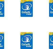 Gaben Inside Intel sticker (6 pack) by LouisPayne458
