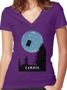 T.A.R.D.I.S. Women's Fitted V-Neck T-Shirt
