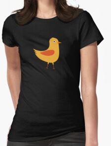 Yellow cute bird Womens Fitted T-Shirt