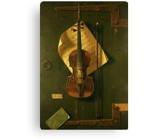 Violin Illustration Canvas Print