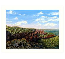 Towards Echo Point, Blue Mtns Australia Art Print