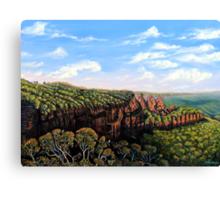 Towards Echo Point, Blue Mtns Australia Canvas Print