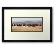 Masai Cattle market Framed Print