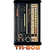TR-808 Gear Photographic Print