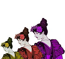 Three women by Tickleart