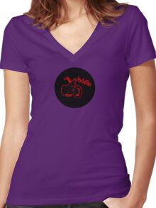W'nR'n Bobber Women's Fitted V-Neck T-Shirt