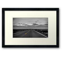Long Road Ahead Framed Print