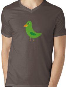 Green bird Mens V-Neck T-Shirt
