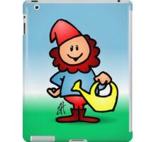 Gnome in the garden iPad Case/Skin