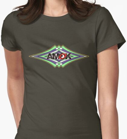 AMOK geometric waves Womens Fitted T-Shirt