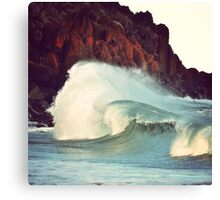 Smashing Surf Canvas Print