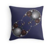 Apollonian Marble Mitosis Throw Pillow