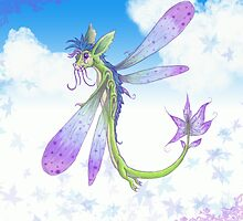 Dragonfly-by by TheLuckyLady
