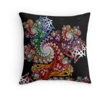 Starburst Galaxy  Coaster Throw Pillow