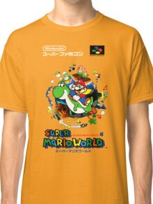 Super Mario World Nintendo Super Famicom Box Art Classic T-Shirt
