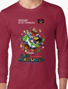 Super Mario World Nintendo Super Famicom Box Art Long Sleeve T-Shirt