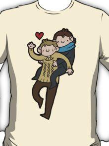 Sherlock & John- Piggyback T-Shirt