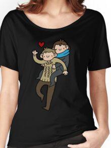Sherlock & John- Piggyback Women's Relaxed Fit T-Shirt