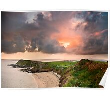 Rinvyle Point Sunset Poster