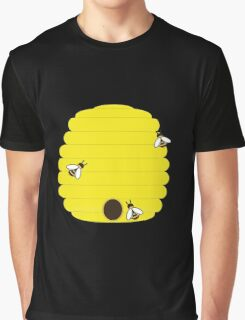 Beehive with 3 busy bees Graphic T-Shirt