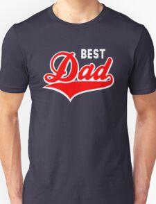 BEST Dad Tail-Design 2C Red/White Unisex T-Shirt
