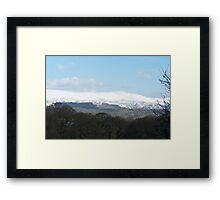 Dyfi Snow Framed Print
