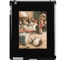 Kittens at bedtime Vintage illustration iPad Case/Skin