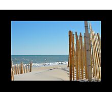 View On Atlantic Ocean - Hampton Bays, New York Photographic Print