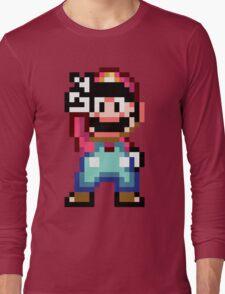 Super Mario World victory pose Long Sleeve T-Shirt