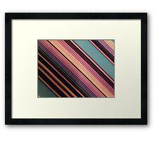 Color Stripes Framed Print