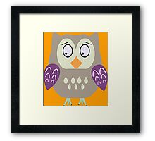 Sad  owl  Framed Print