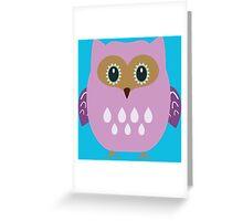 Pink owl  Greeting Card