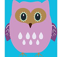 Pink owl  Photographic Print
