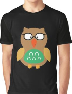 Nerdy owl  Graphic T-Shirt