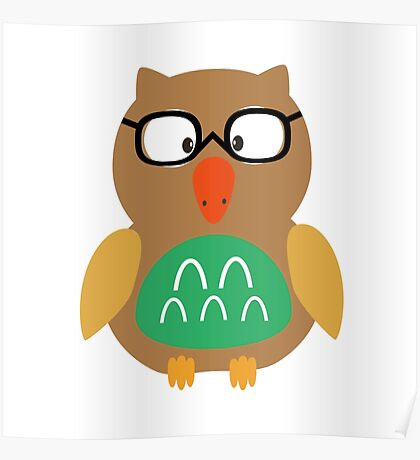 Nerdy owl  Poster