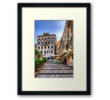 Old Town Taverna Framed Print