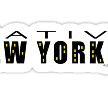 Native New Yorker Sticker